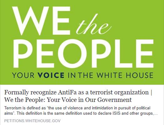 White House Petition Antifa