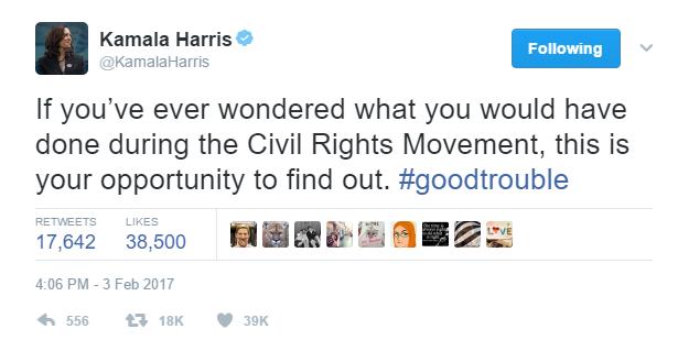 Kamala Harris California Democrat Senator Berkeley Riots Tweet