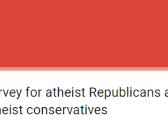 Republican Atheists survey